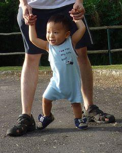Alex attempting to walk